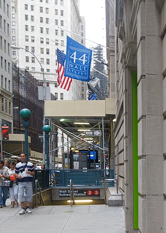 Wall Street (IRT Broadway–Seventh Avenue Line) - Image: Wall Street subway August 2012