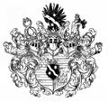 Wappen des Reichsritters Ferdinand von Sternbach im 19. Jh..png