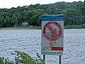 Warning Sign, Damflask Reservoir, near Sheffield - geograph.org.uk - 1615093.jpg