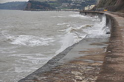 Waves breaking on the sea wall at Teignmouth (0162).jpg