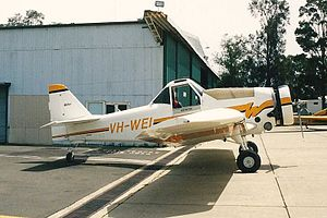 Weatherly 620B (VH-WEI) at Bankstown Airport.jpg