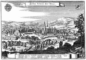 Schloss Weimar - Image: Weimar 1650 Merian