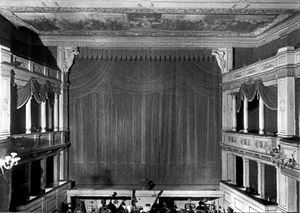 Le dernier sorcier - Interior of the Weimar Court Theatre, where Le dernier sorcier had its first public performance on April 8, 1869