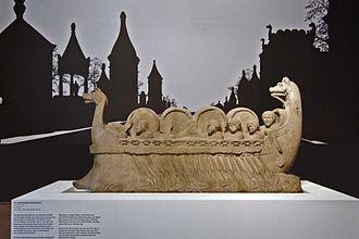 Rheinisches Landesmuseum Trier - Image: Weinschiff Neumagen