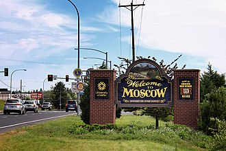 Welcome sign - Image: Welcome to Moscow, Idaho