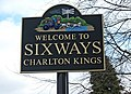 Welcome to Sixways sign, London Road - geograph.org.uk - 1776931.jpg