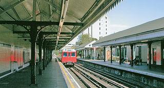 West Kensington tube station London Underground station