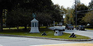 Westford, Massachusetts - Westford Common, looking down Main Street