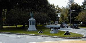 Westford, Massachusetts - Westford Common, looking down Main Street