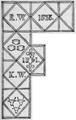 WestonWalrondArms 1561 HeathHayne Colyton Devon.png