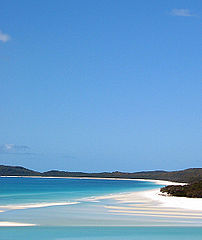 Whitehaven beach on the Whitsunday Island