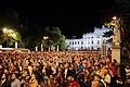 Wien - Festwocheneröffnung 2014, Blick über Rathausplatz Richtung Burgtheater.JPG