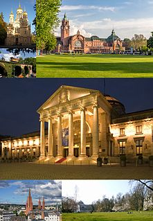Wiesbaden Place in Hesse, Germany