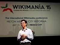 Wikimanía 2015 - Day 4 - Luis von Ahn conference - LMM (10).jpg