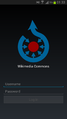 Wikimedia Commons Android App - Login Screen 01.png