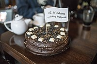 Wikipedia birthday cake - Wroclav (Poland).jpg