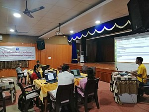 Wikisource and Wikidata training for Sanskrit Wikimedians- day 1.4.jpg
