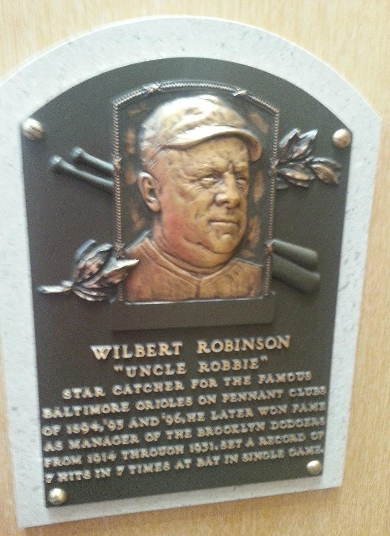 Wilbert Robinson HOF plaque