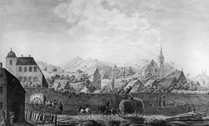 Zwingenberg, Hesse - Zwingenberg about 1810 (painting by Wilhelm Merck)