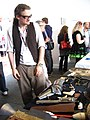 Will and his wares - Brighton Mini Maker Fair 2011.jpg