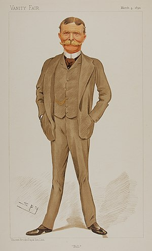"William Carington - ""Bill"" as caricatured by Spy (Leslie Ward) in Vanity Fair, March 1893"