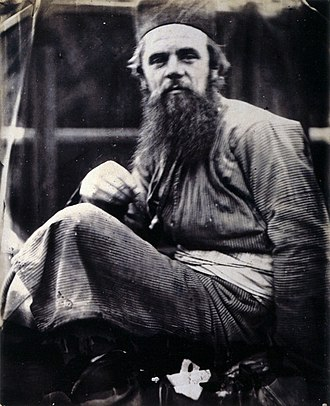 William Holman Hunt - Hunt in his eastern dress, photo by Julia Margaret Cameron