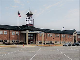 Monroe Township, Gloucester County, New Jersey - View of the main entrance of Williamstown High School