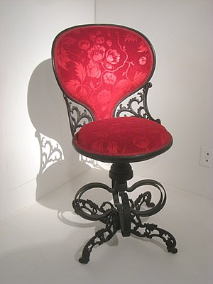 Centripetal Spring Armchair - A Centripetal Spring Chair (the variant without arms and headrest) in the collection of the Wolfsonian-FIU Museum.