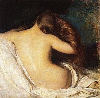 Joseph DeCamp - Image: Woman drying Hair