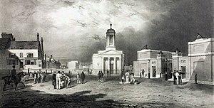 Royal Arsenal Gatehouse - Image: Woolwich, Beresford Square, c 1835
