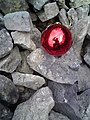 World's End, Red Bauble on Scree - geograph.org.uk - 1739595.jpg