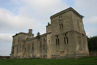Percy–Neville feud - Wressle Castle in 2009: Forfeited by the Percys, it is possible they feared its loss to the Nevilles.