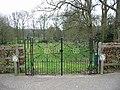 Wrought iron gates to the churchyard - geograph.org.uk - 400638.jpg