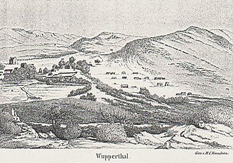 Wupperthal - Sketch of Wupperthal by the Norwegian missionary, Hans Christian Knudsen