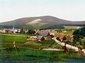 Duchy of Brunswick - The Wurmberg, highest peak of Brunswick, seen from Braunlage c. 1900.