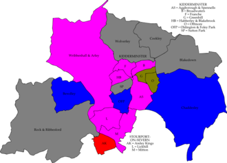Wyre Forest District Council elections - Image: Wyre Forest UK local election 2002 map
