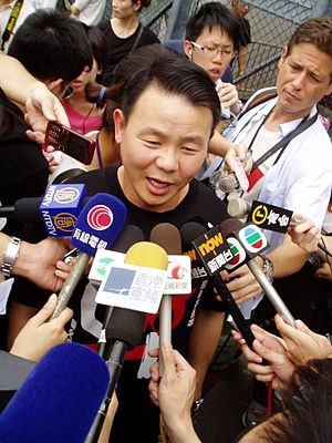 20th anniversary of Tiananmen Square protests of 1989 - Xiong Yan being interviewed on 31 May