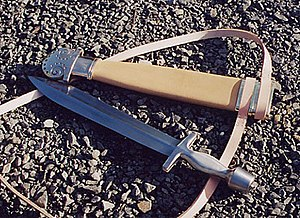 Xiphos - Modern reconstruction of a Greek xiphos and scabbard