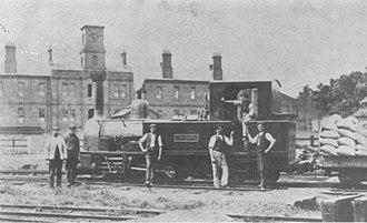 British military narrow-gauge railways - Locomotive Yorkshire on the Chattenden and Upnor Railway