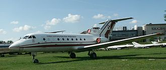 Regional jet - Polish government Yakovlev Yak-40 at the Polish Aviation Museum.