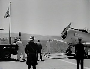 A Yank in the R.A.F. - The opening scene depicts a true incident where U.S. aircraft were towed across the Canada–US border.