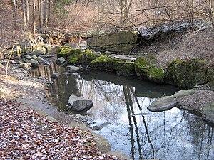 Toronto ravine system - Yellow Creek running through a ravine near Rosedale