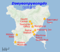 Yeonpyeong shelling locations.png