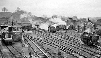 Yeovil–Taunton line - Yeovil Town station in 1964