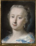 Young Woman with Flowers in her Hair (Rosalba Carriera) - Nationalmuseum - 23945.tif