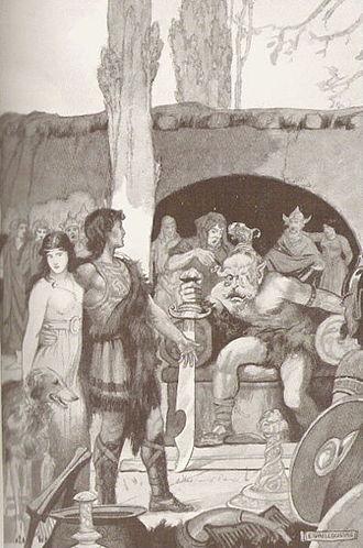 Culhwch and Olwen - Image: Ysbaddaden