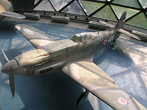 40th Fighter Aviation Regiment - An Ikarus S-49C Yugoslav-made fighter which served with the 40th Aviation Regiment from 1955 to 1959, now at the Belgrade Aviation Museum