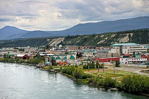 Whitehorse, Yukon - Downtown Whitehorse and Yukon River, August 2008
