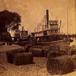 Yuma, Arizona - Steamboats on the Colorado River at Yuma, circa 1880
