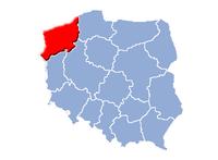Västpommerns vojvodskaps beliggenhed i Polen